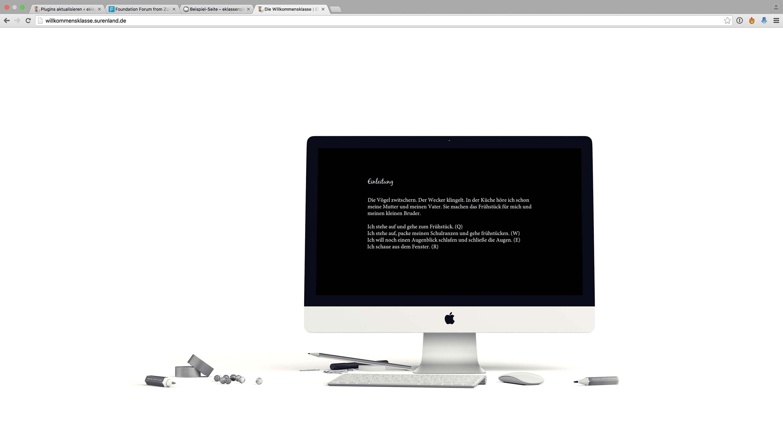 Willkommensklasse – Internetseite 2.0